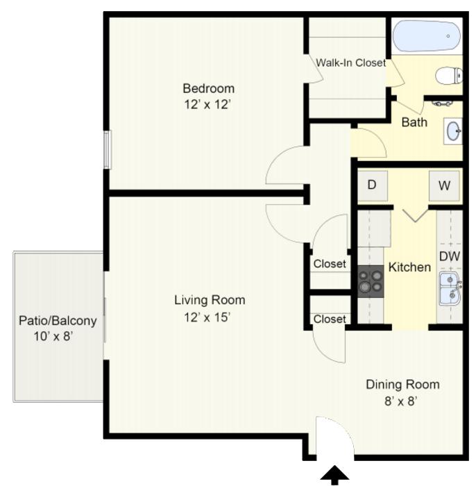 One Bedroom Apartments Birmingham AL Ascot Place Floorplans