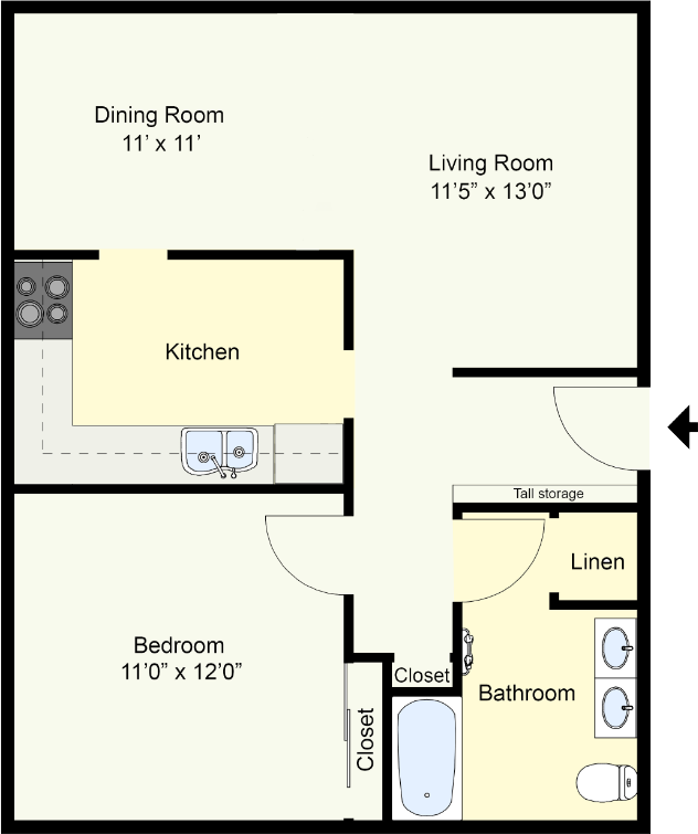 Austin – One Bedroom One Bath