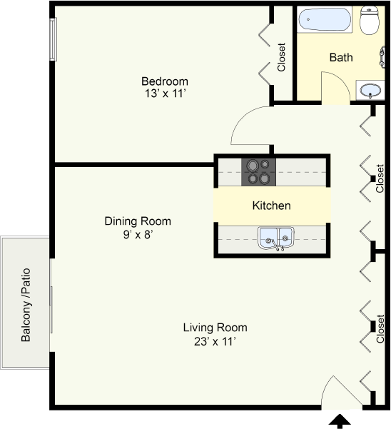 Arcadia – One Bedroom One Bath