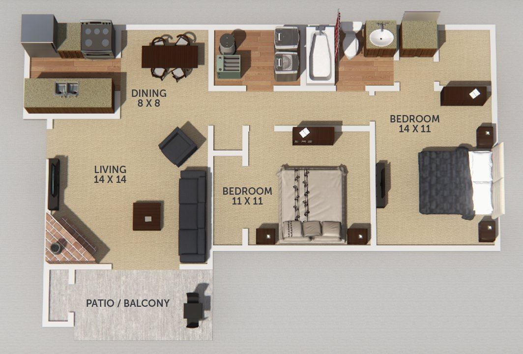 Okemos MI Apartments Club Meridian Apartments Floor Plans - 14 x 11 bedroom design